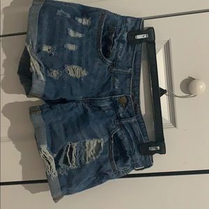 Size 0 - denim ripped shorts - Rue 21 - Never worn